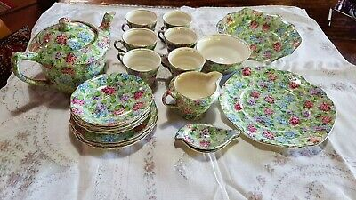 James Kent Hydrangea Tea Set with Cake Plates