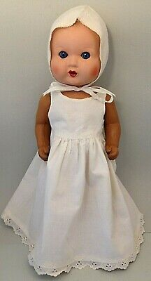 Antique 30's - 40's composition doll blue sleep eyes real lashes 39 cm height
