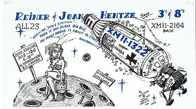 Old QSL from Reiner & Joan Hentze Vancouver BC Canada XM11-1322 (March 1969)
