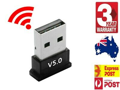Bluetooth V5.0 USB Dongle Adapter For PC Desktop Computer WIN 10 + Warranty