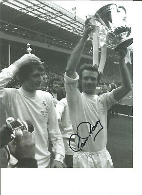 Football Autograph Paul Reaney Leeds United Signed 10x8 inch B&W Photograph JM91