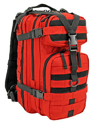 Compact Medical Trauma Back Pack Hi Vis Rescue Red Condor 126-010 Molle Webbing