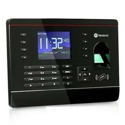 Biometric Fingerprint Attendance Time Clock + RFID Card Reader + TCP/IP + USB