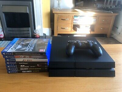 Sony PlayStation 4 1TB Console - Jet Black + Cod Modern Warfare. Controller Used