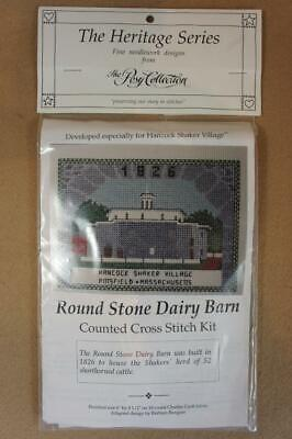 The Heritage Series counted cross stitch kit Shakers Round Stone Dairy Barn