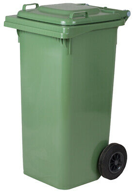 Barrel Fillers Bin Waste Bin L 240 with Wheels Green