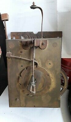 Antique longcase grandfather clock movement 18 th century