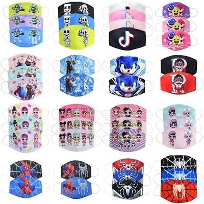 Kids Spider Man Sonic The Hedgehog Tik Tok Frozen Mouth Face Mask Windproof Uk 1 99 Picclick Uk