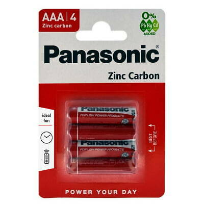 Panasonic AAA Zinc Carbon Batteries (Pack of 4)