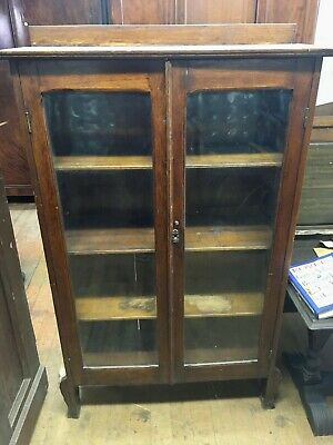 Solid Mission Style English Oak Bookcase