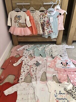 Baby Girls Clothes Bundle 0-3 Months NEW & USED 24 Items! Next, Boots, Debenhams