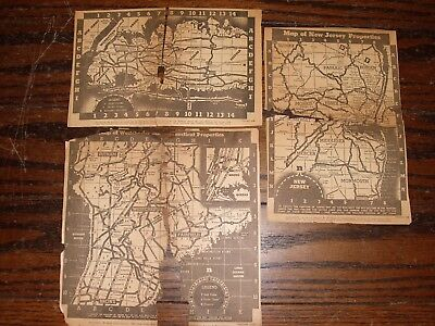 1936 maps from newspaper Connecticut, New York and New Jersey