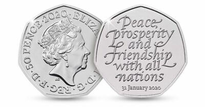 Official UK Brexit 50p Coin Brand New 31st January 2020 ....0006...