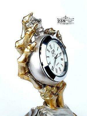 HOUR OF DEATH CLOCK Alchemy England 1977 HORA MORTIS CLOCK Gothic Gold Silver