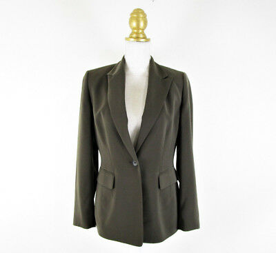 Kasper Womens Gray Taupe Blazer Suit Jacket Size 4 Career Business One Button