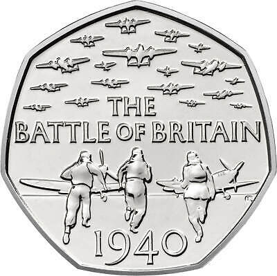 2015 Battle of Britain UK 50p Coin