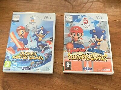 Nintendo Wii - Mario And Sonic At Olympic Games & Winter Olympics X 2