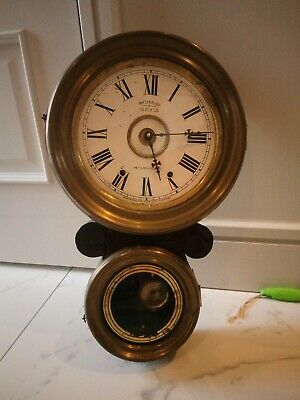 Vintage Antique Hanging Wall Clock With Pendulum