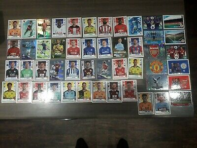 50 Different  Panini Premier League 2020 Football Stickers   Inc 14 Foils