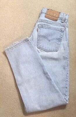 Vintage LEVIS 550 Red Tab Beautifully Faded Relaxed Fit Tapered Jeans 28x30 USA