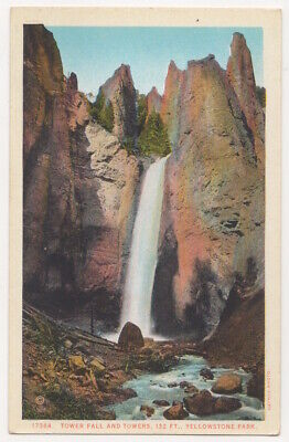 Yellowstone National Park c1920's Tower Falls and Towers, waterfall