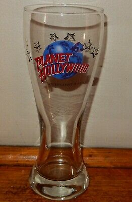 Planet Hollywood Tall PILSNER Beer GLASS South Coast Plaza California USA c1990