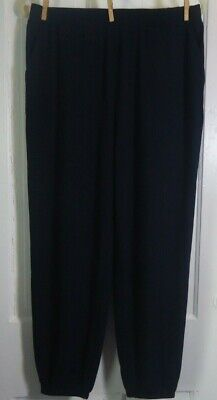 Lisa Rinna Collection Knit Cropped Jogger Pants BLACK  Size M ~  A341719