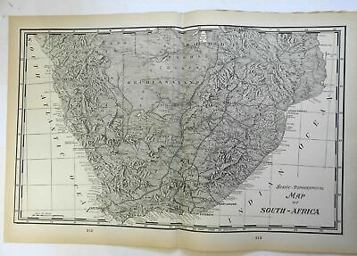 South Africa Cape Colony birds-eye view map 1903 Lithographed double page map