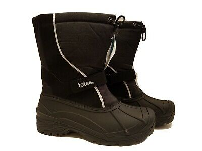 New Men/'s Totes Waterproof Boots//Galosh Black Size 13 Med Plush Thermolite Linin