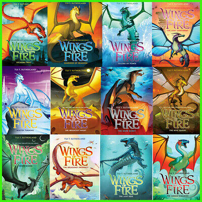 Wings of Fire 12 Books Set By Tui T. Sutherland P D F book edition Hardcover new