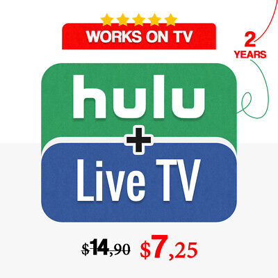 Hulu + Live TV | 2 YEARS | No Ads | FAST Delivery & Warranty