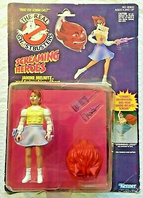 c. 1986 VINTAGE NOS the Real Ghostbusters Janine Melnitz Swinewhine Ghost MOC