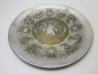 Reed & Barton Damascene Silverplate Limited Edition Christmas Plate, 1972