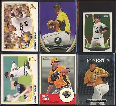 GERRIT COLE 2013 Topps Update US150 + Finest ++ Rookie Card LOT x6 - Yankees RC