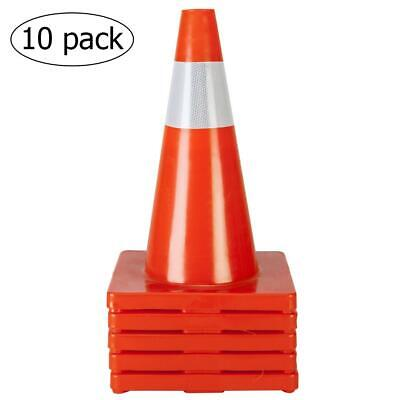 "10PCS 18"" Orange Safety Traffic Cones Trucks and Road Safety"