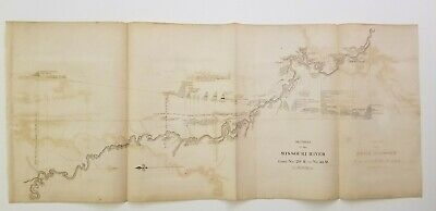 1 map section on the Missouri River, 20 M to 40 M, Owen 1852
