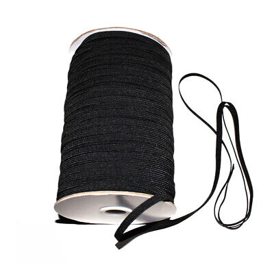 196Yards 3/5mm Black Elastic Rope Band Face Cover Ear Hanging DIY Making NEW