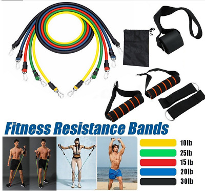 11Pcs Set Men Women Resistance Bands Workout Exercise Yoga Crossfit Fitness Tube
