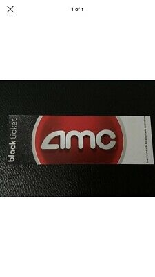 AMC Theatres Two Black Tickets Movie E-Ticket Fast Delivery No Expiration