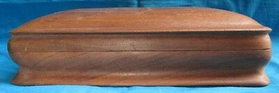 Vintage Collectible Wooden Box Hand Crafted Single Wood Trinket Box Antique