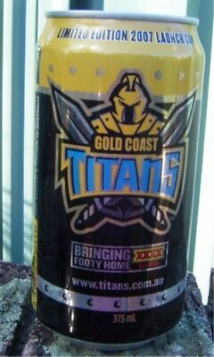 2007 XXXX Gold Coast Titans Launch Can Bottom Opened Empty Limited Edition