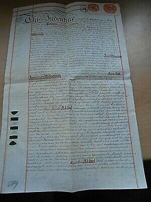 An 1882 Coveyance/Indenture between John Mayjor / Andrew Harris & Thomas Heyser