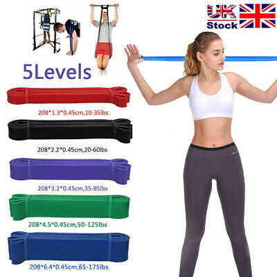 Heavy Duty Latex Resistance Bands Loop Exercise Sport Fitness Tube Home Yoga Gym