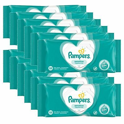 12 Pack Pampers Sensitive Wet Wipes - Baby wipes