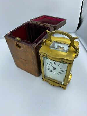 antique french carriage clock Box And Key