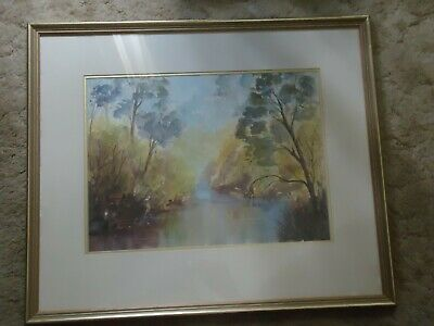 Australian Artist Marie Higgs Water Colour of Ovens Creek