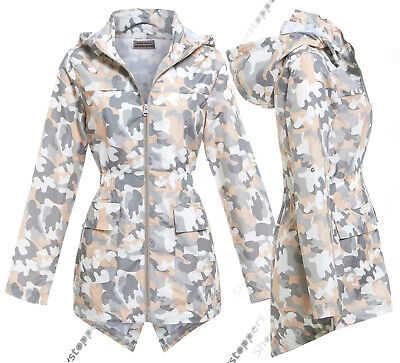 Girls Rain Mac Camo Showerproof Raincoat Jacket Ages Size 7 to 13 Years Coat