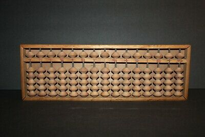 Vintage 15 Column 90 Bead Wooden Japanese Character Abacus