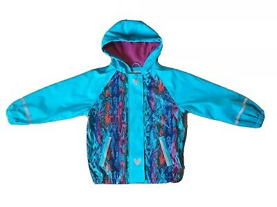 Lupilu 4-6 Years Old Girls Waterproof Rain Wind Jacket Coat Blue Turquoise
