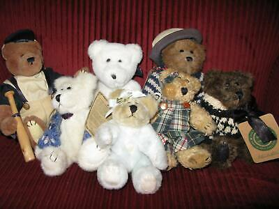 Lot of 7 Boyds Bears – Knit Sweaters Baseball Bear Archive Collection – 1990's
